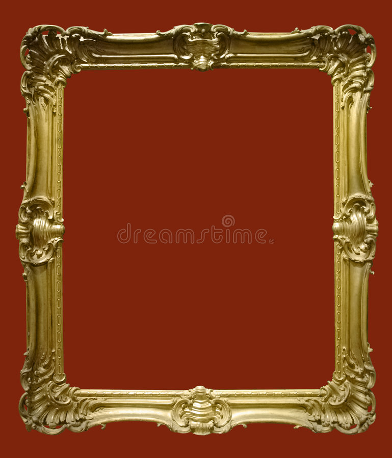 Foto des gealterten goldenen Bilderrahmens lizenzfreie stockbilder