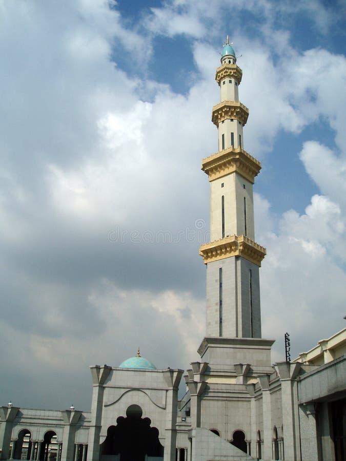 Foto des Kontrollturms der Moschee stockbild