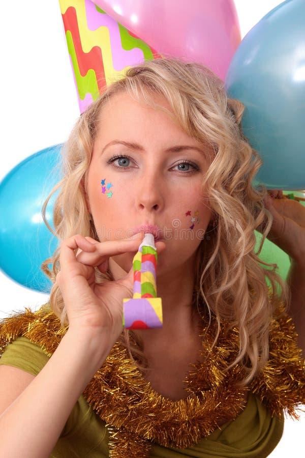 Foto des schönen Mädchens während des Karnevals stockbilder