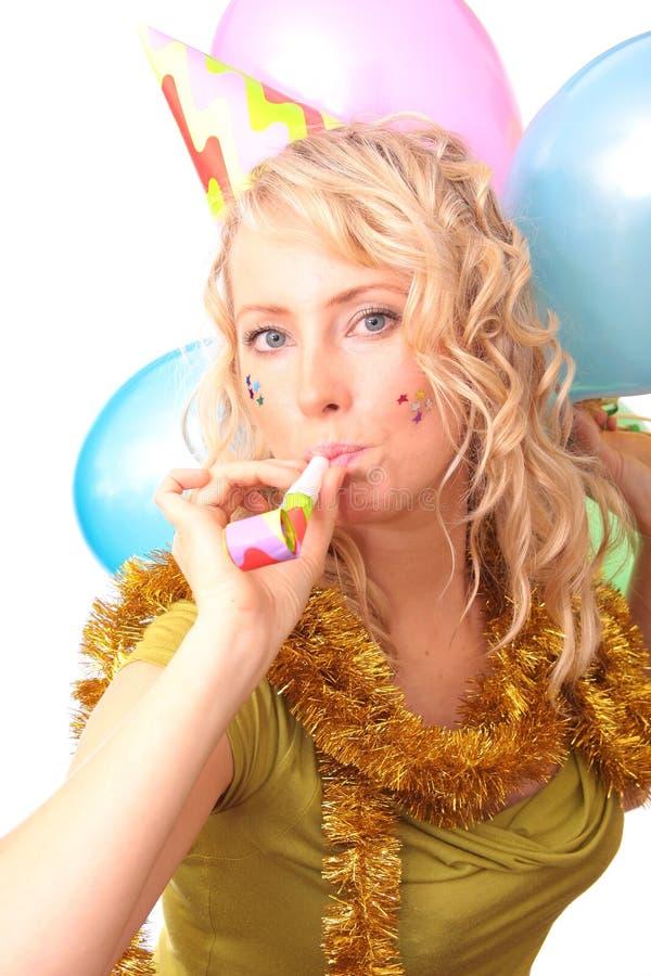 Foto des schönen Mädchens während des Karnevals lizenzfreies stockbild