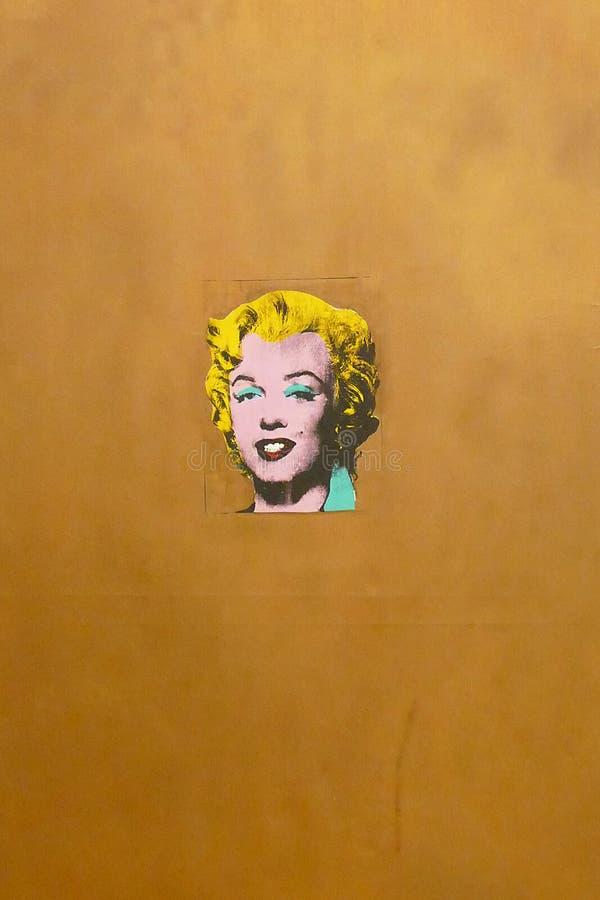 Foto des ursprünglichen Malerei ` Gold-Marylin Monroe-` durch Andy Warhol stockfoto