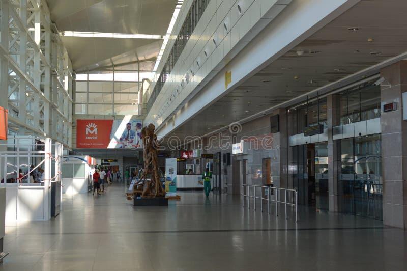 Foto di bello aeroporto internazionale di Maputo fotografie stock libere da diritti