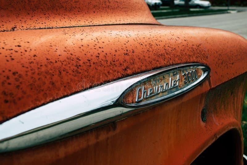 Foto di chiusura di Chevrolet 3600 Car immagini stock libere da diritti