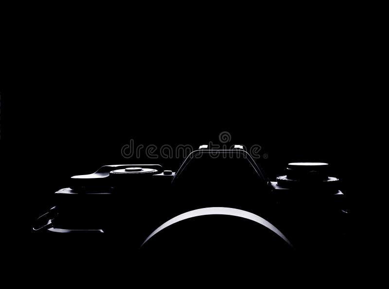 Foto di contorno di una macchina fotografica tranquilla d'annata fotografia stock