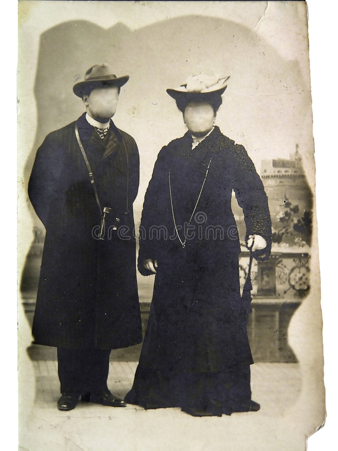 Foto di famiglia dell'annata immagini stock
