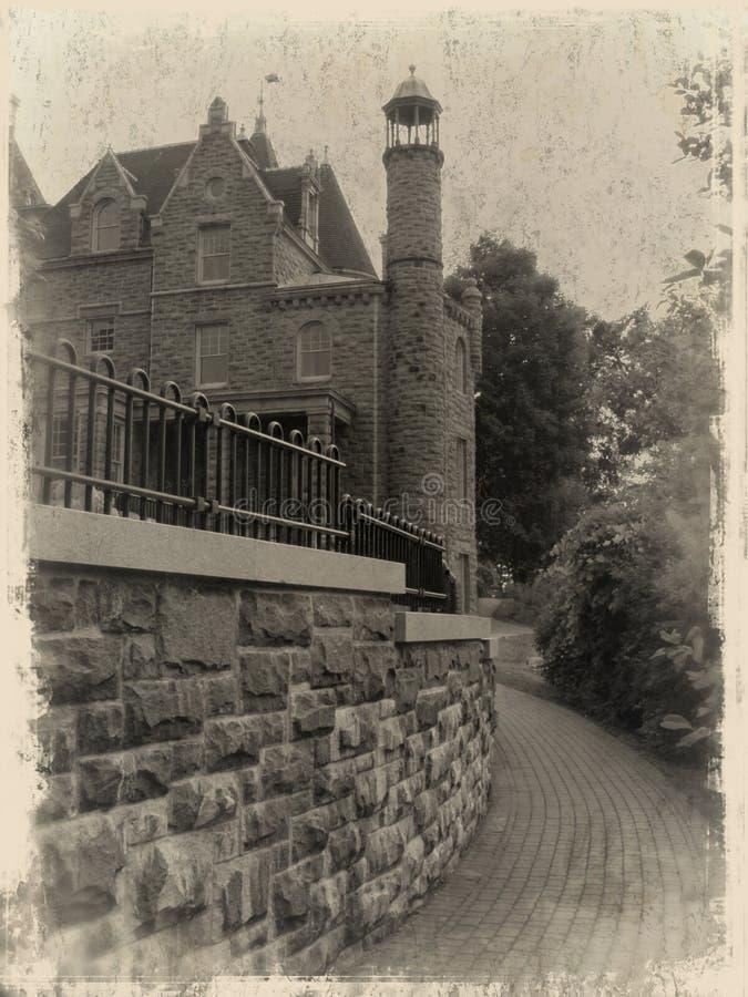 Foto di Grunge del castello del Boldt immagine stock