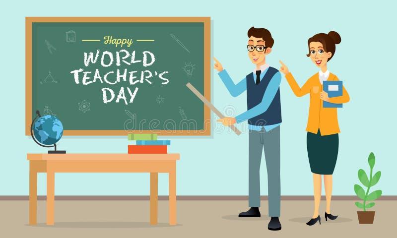Foto di Happy World Teacher Day fotografia stock