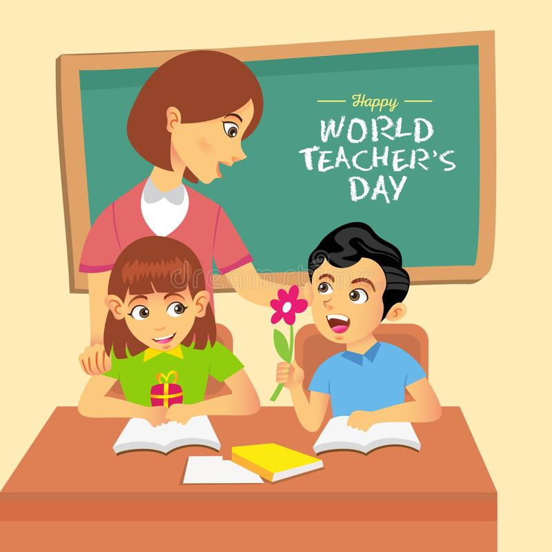 Foto di Happy World Teacher Day immagini stock