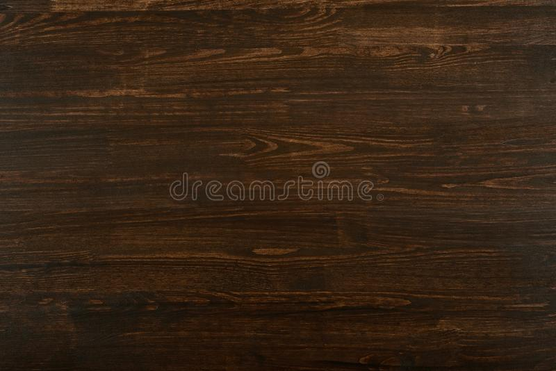 Foto di legno naturale per fondo o struttura, colore di marrone scuro fotografie stock libere da diritti