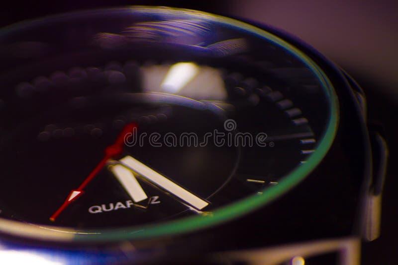 Foto di macro dell'orologio fotografia stock