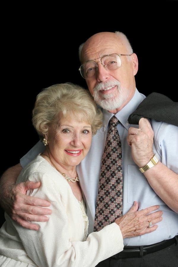 Foto di riserva delle coppie maggiori affettuose fotografie stock