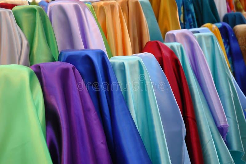 Foto di riserva di tessuto variopinto fotografia stock