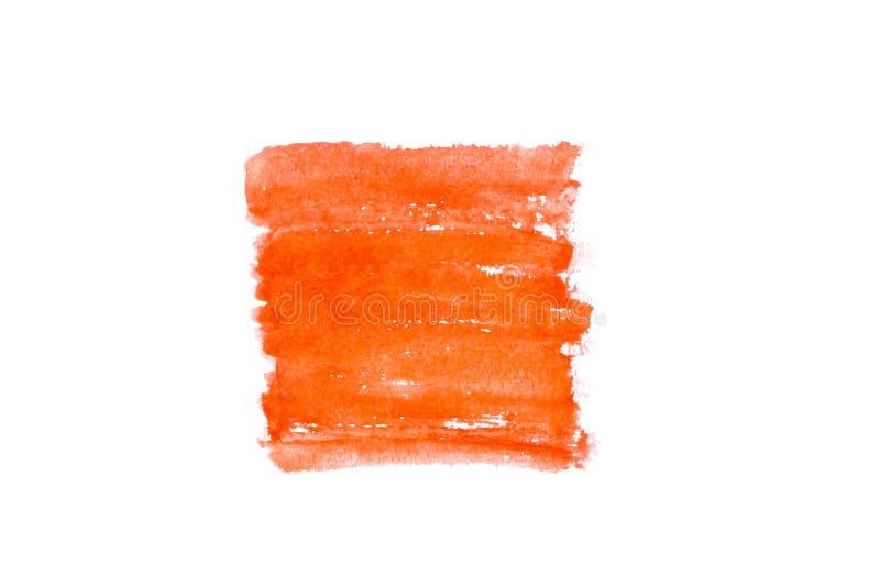 Foto di tendenza sul tema della tonalit? arancio alla moda questa stagione Sbavatura vaga luminosa della pittura dell'acquerello immagine stock