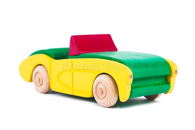 Foto di un'automobile di legno fatta del faggio fotografia stock libera da diritti