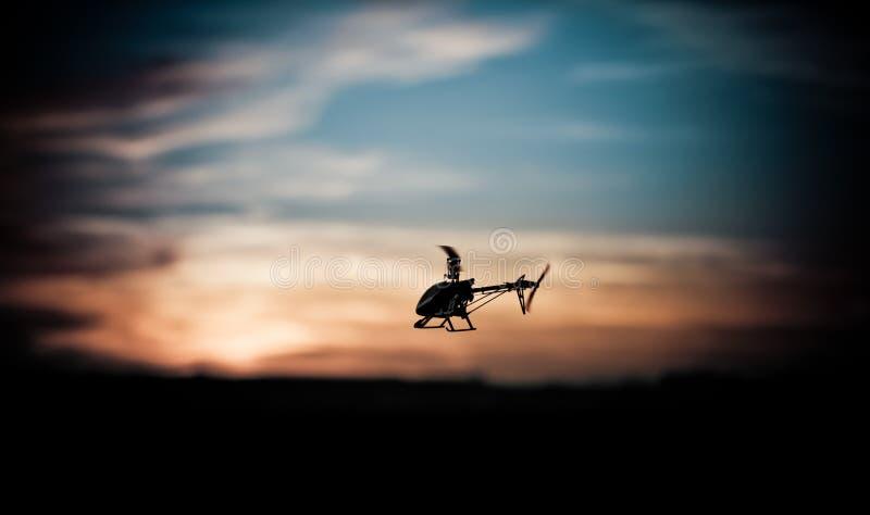 Foto di un elicottero di RC immagine stock