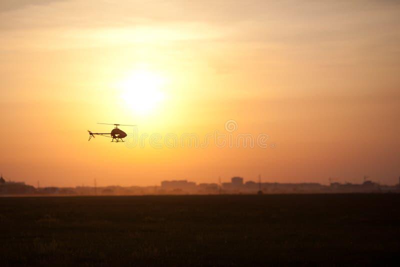 Foto di un elicottero di RC fotografie stock libere da diritti