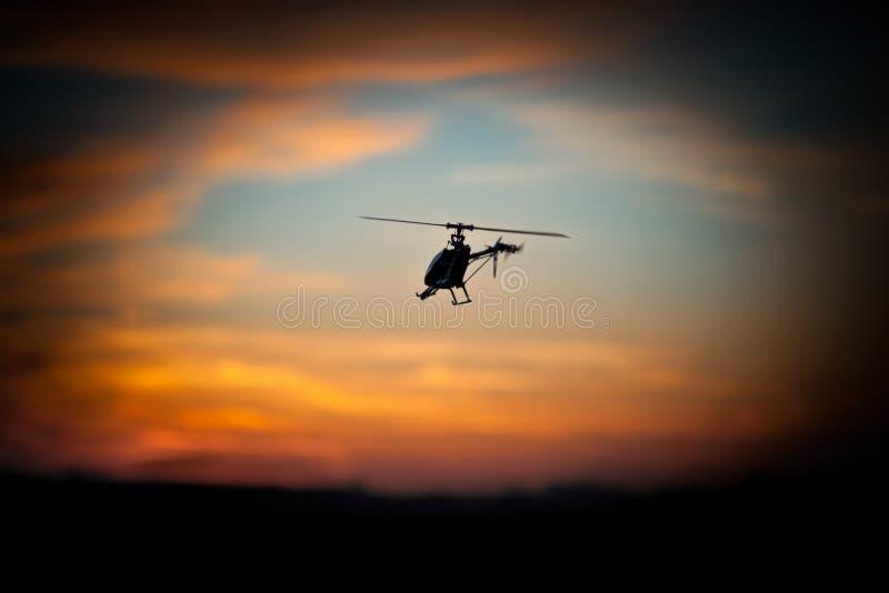 Foto di un elicottero di RC fotografia stock libera da diritti