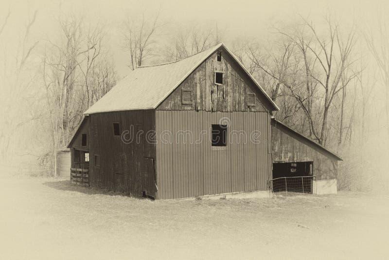 Foto di vecchio stile di un granaio fotografia stock