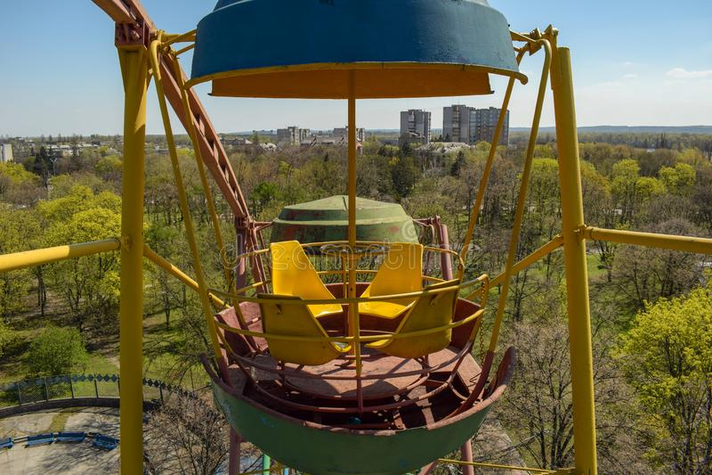 Foto die in een Cabine Ferris Wheel wordt gemaakt royalty-vrije stock fotografie