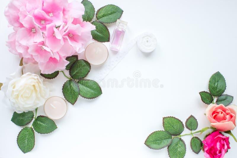 Foto disegnata con i fiori immagini stock libere da diritti