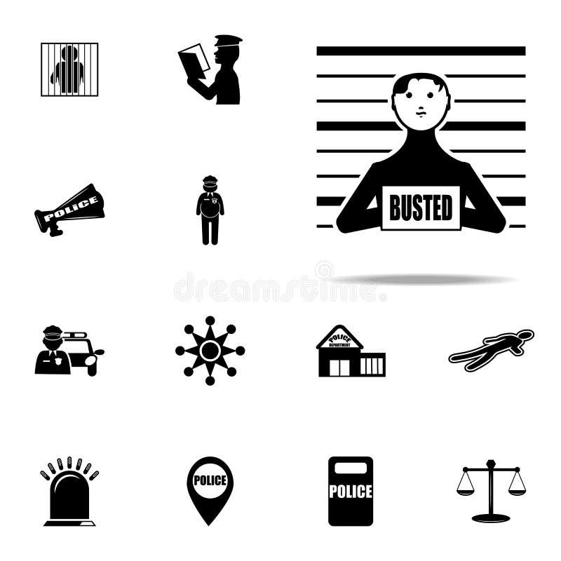 foto do ícone criminoso Grupo universal dos ícones da polícia para a Web e o móbil ilustração do vetor