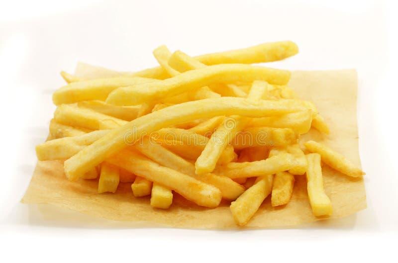 Foto do batatas fritas macro imagem de stock royalty free