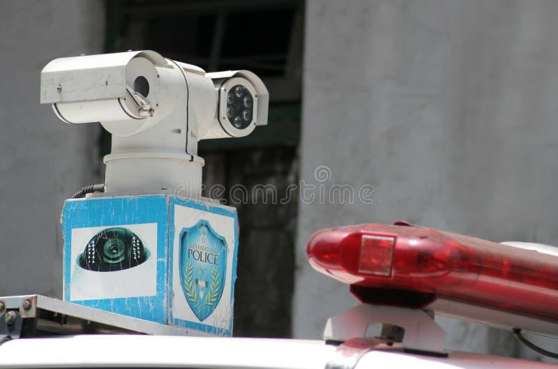 Foto do close up da câmera do CCTV imagens de stock royalty free