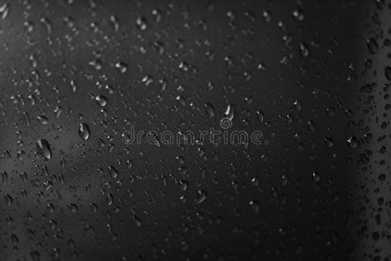 Foto do close-up, pingos de chuva, pingos de chuva, imagens preto e branco, sum?rio, fundos, texturas, espa?o vazio de copi, test foto de stock royalty free