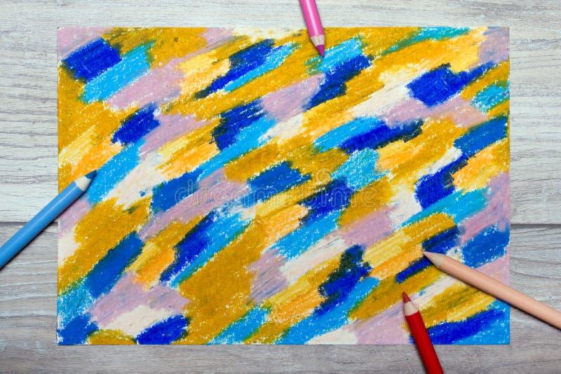 Foto do desenho da mão Textura colorida para o fundo ilustração stock