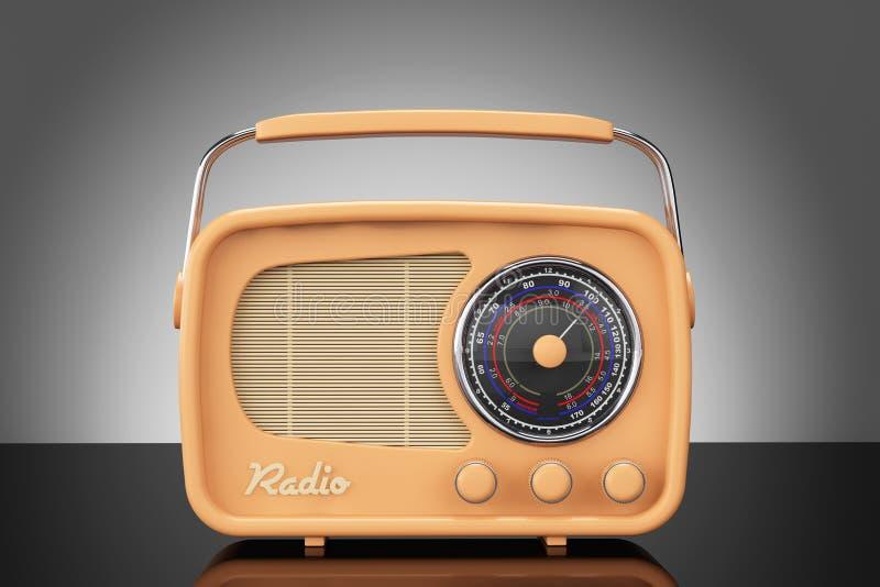 Foto do estilo velho Rádio do vintage na tabela foto de stock