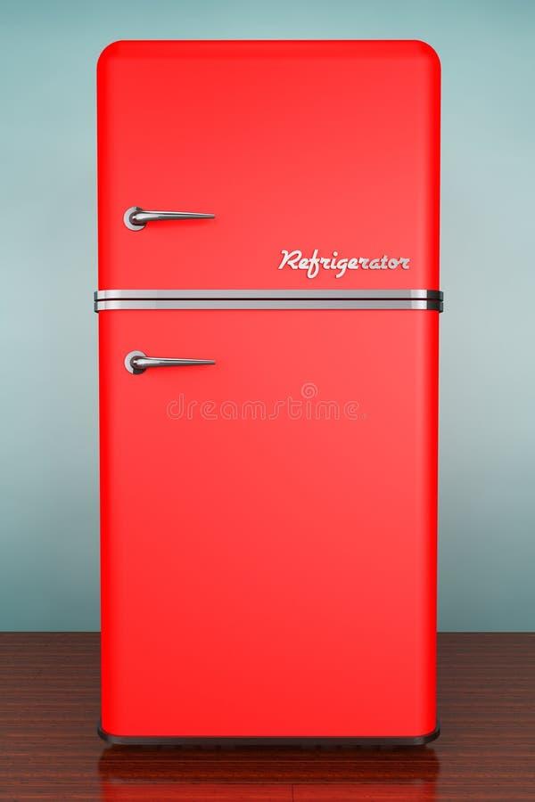 Foto do estilo velho Refrigerador retro foto de stock royalty free