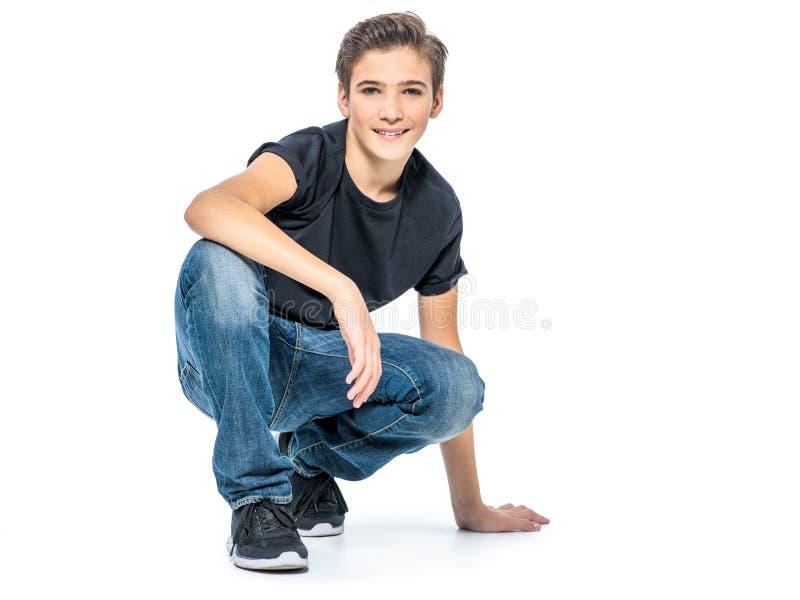 Foto do menino feliz novo adolescente adorável fotos de stock