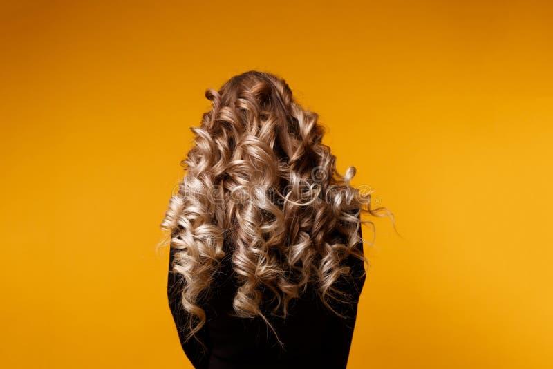 Foto do modelo com cabelo encaracolado longo foto de stock royalty free