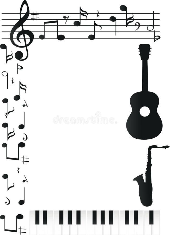 Foto do quadro do projeto da música ilustração stock