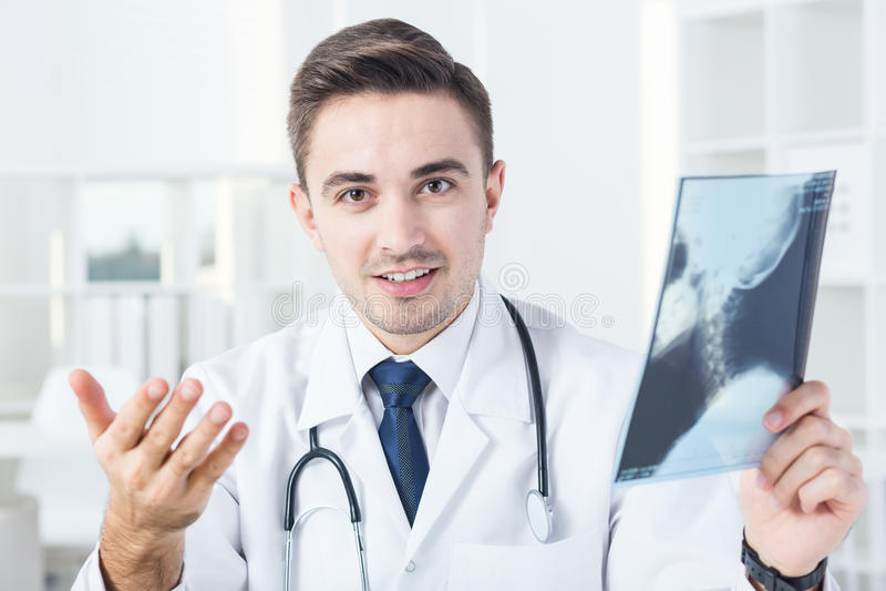 Foto do raio X da espinha fotos de stock