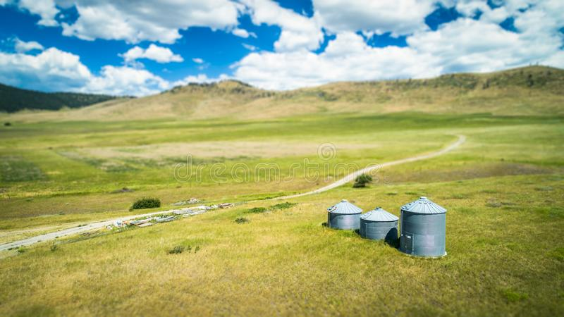 Foto do silo do rancho imagem de stock royalty free