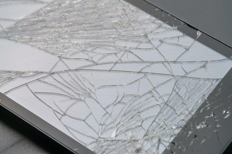 Foto do smartphone com tela fraturada foto de stock
