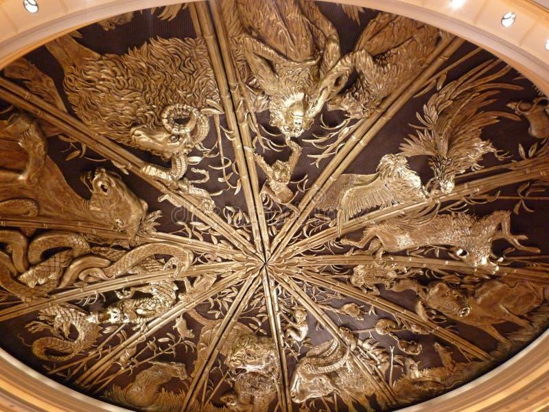Foto do teto do Macau Venetian imagem de stock