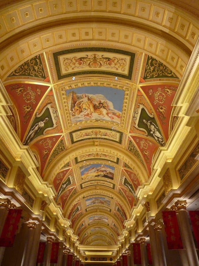 Foto do teto do Macau Venetian foto de stock royalty free