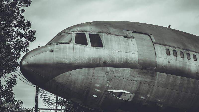 Foto do transporte do lugar de estacionamento dos aviões fotografia de stock royalty free