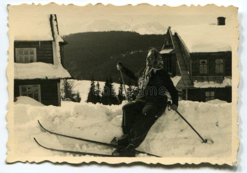 Foto do vintage da mulher fotos de stock