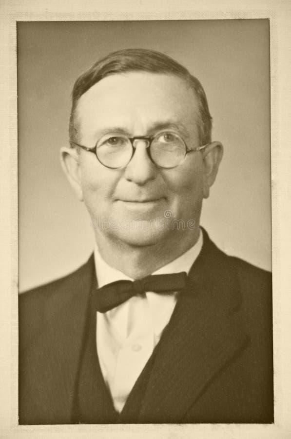 Foto do vintage do homem foto de stock