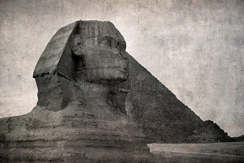 Foto do vintage do Sphinx imagens de stock