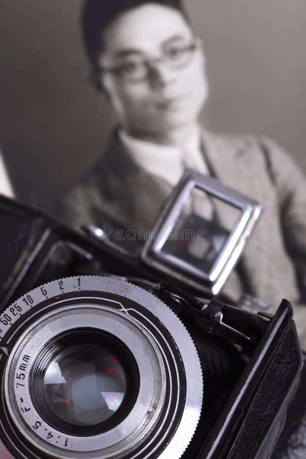 Foto do vintage/homem chinês fotos de stock royalty free