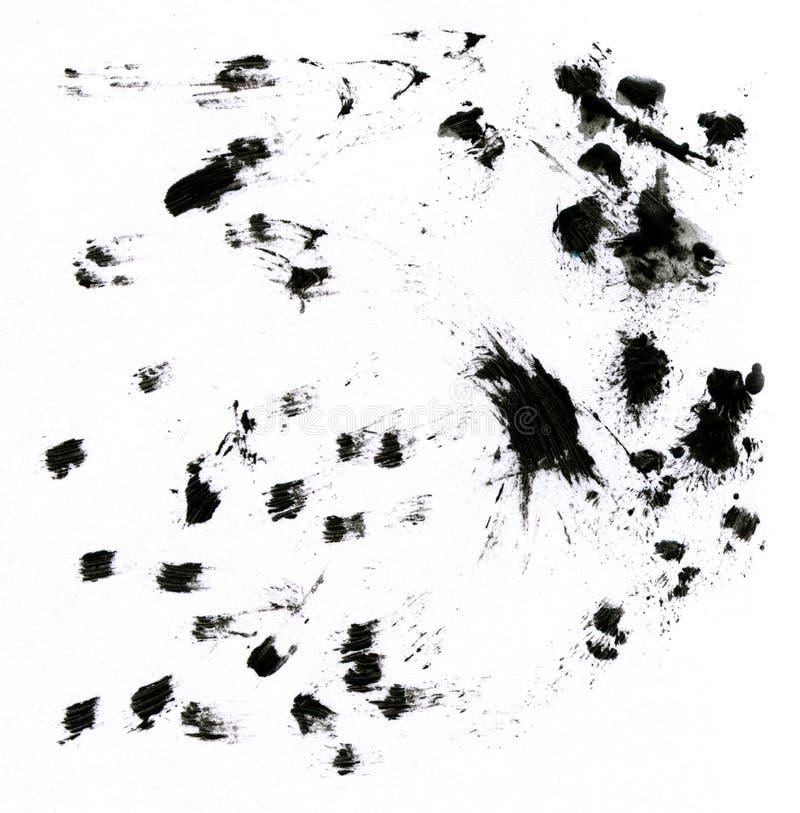 Foto dos borrões manchados do preto. imagens de stock