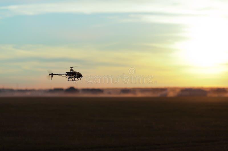 Foto eines RC Hubschraubers stockbilder