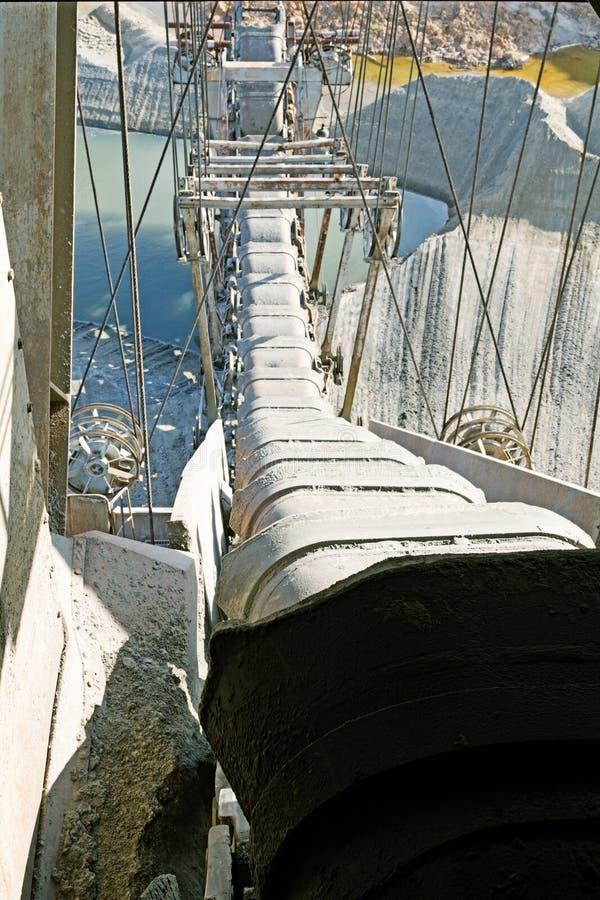 Foto eines riesigen Steinbruchbaggers stockfoto