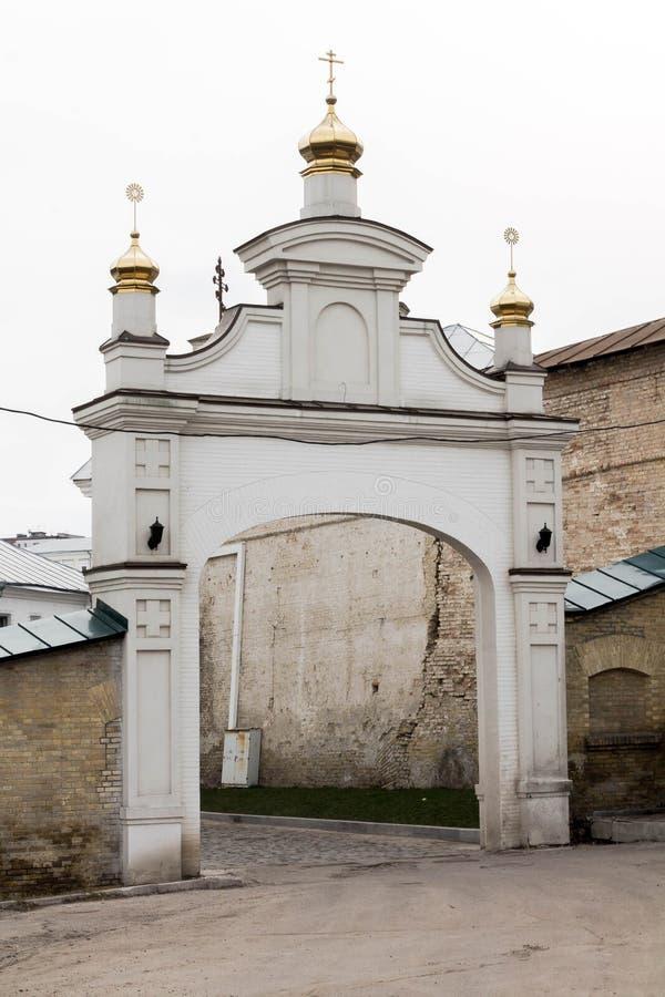 Foto eingelassenes Madrid, Spanien Der Eingang zur Kirche Anmeldungskloster Kiyv stockfotos