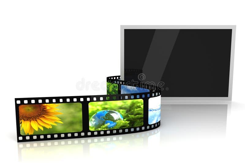 Foto em branco com película ilustração stock