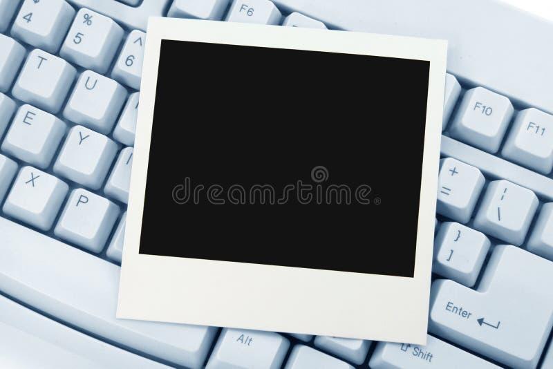 Foto en toetsenbord stock afbeeldingen